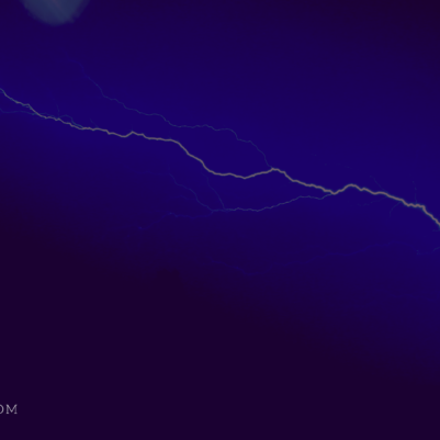 Lightning in a dark sky